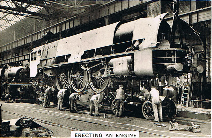 Erecting an engine