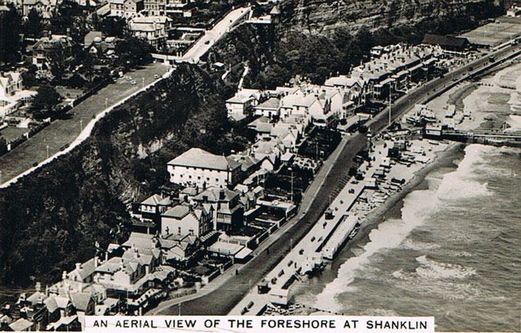 Aerial view of the foreshore at Shanklin