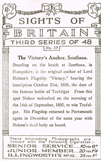 The Victory's Anchor, Southsea