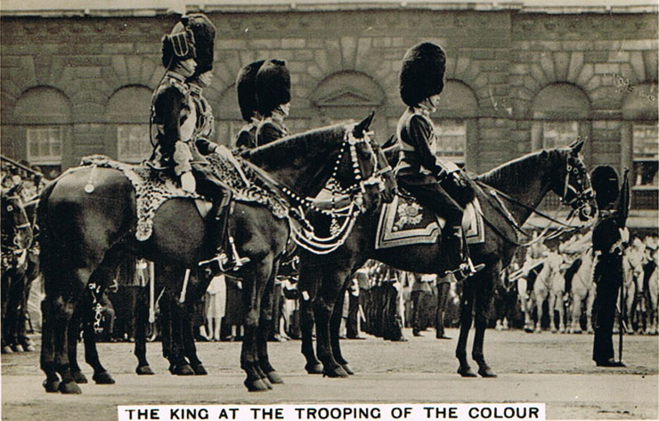 The King at the Trooping of the Colour