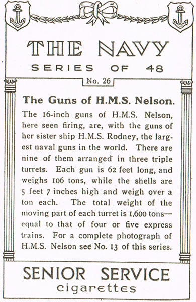 The Guns of H.M.S. Nelson