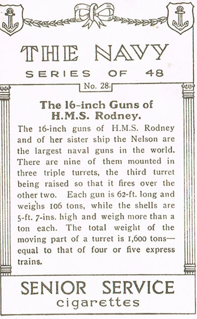 The 16-Inch Guns of H.M.S. Rodney