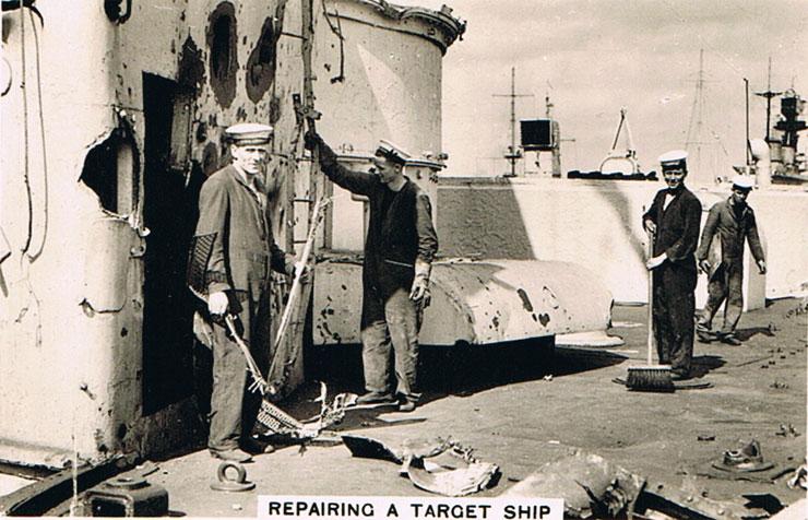 Repairing a Target Ship