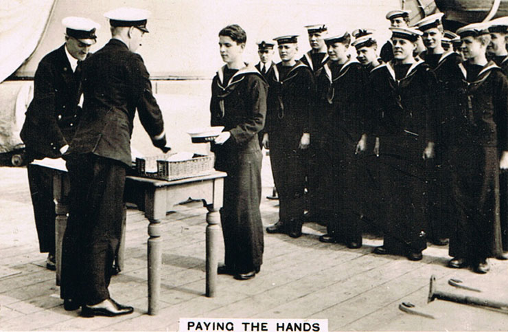 Paying the Hands
