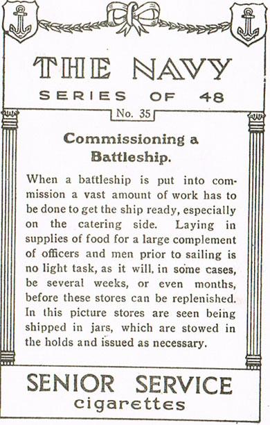 Commissioning a Battleship