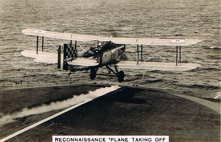 Reconnaissance Plane Taking Off