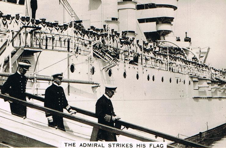 The Admiral Strikes his Flag