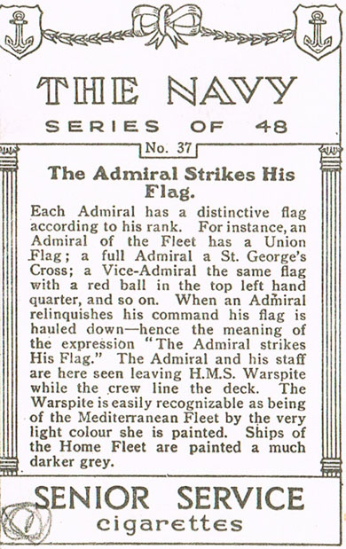 The Admiral Strikes his Flag