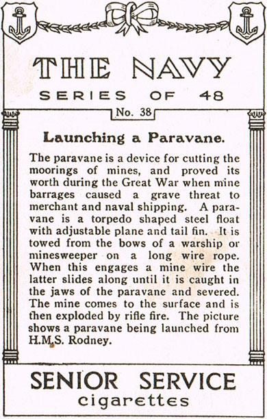 Launching a Paravane