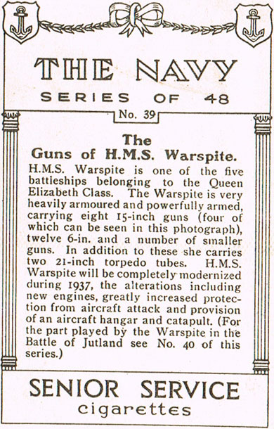 The Guns of H.M.S. Warspite