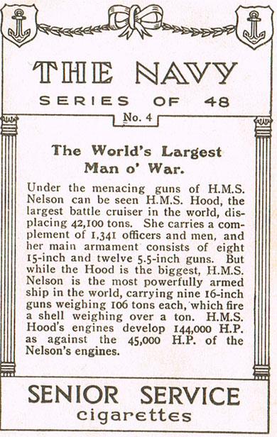 The World's Largest Man O' War