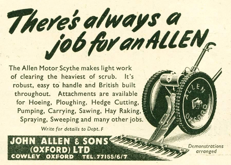Allen Motor Scythe