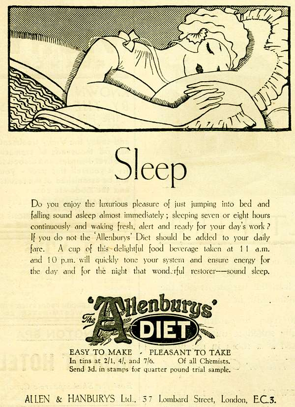 Allenburys Diet - Sleep