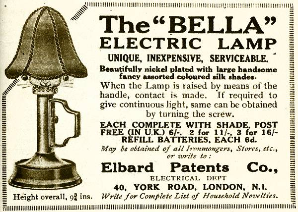 The 'Bella' Electric Lamp