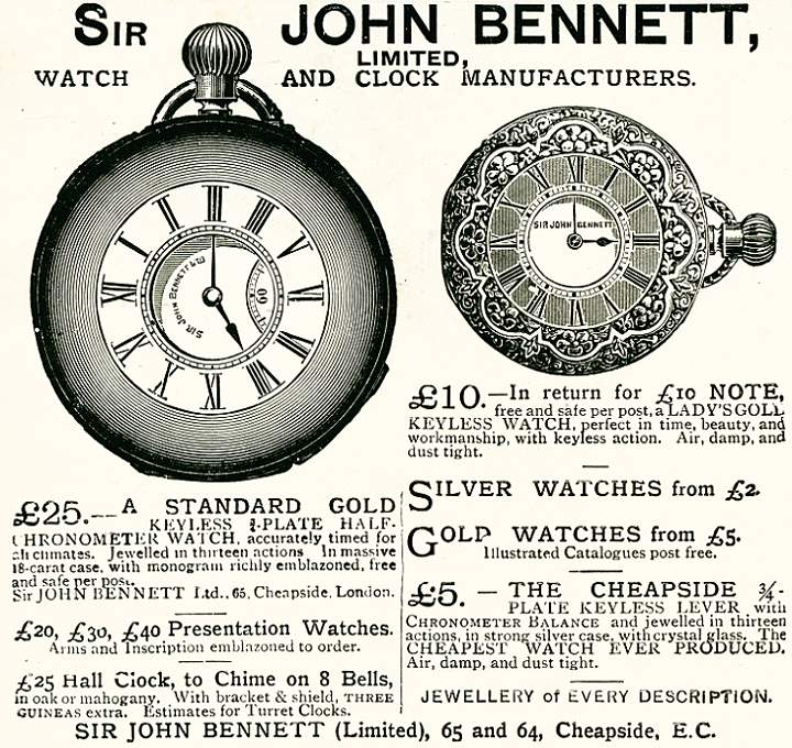 Sir John Bennett Ltd., Watch and Clock Manufacturers
