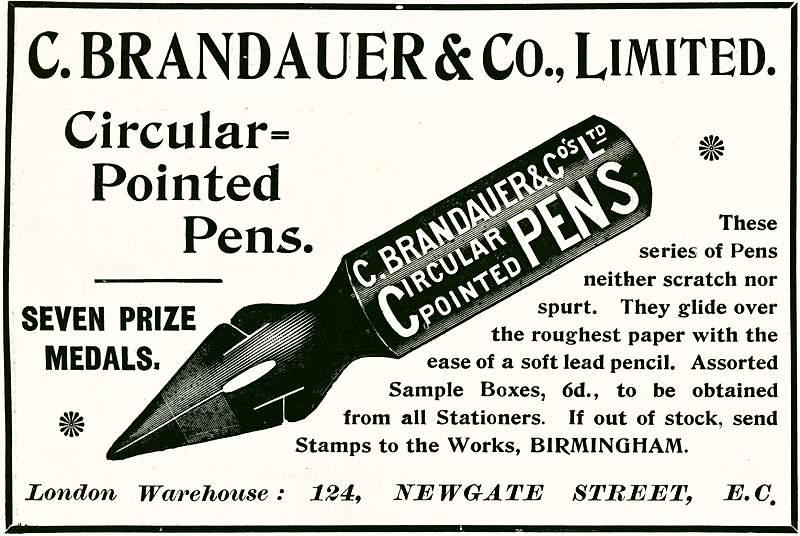 C. Brandauer Circular Pointed Pens