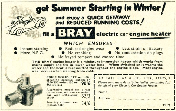 Bray Engine Heater