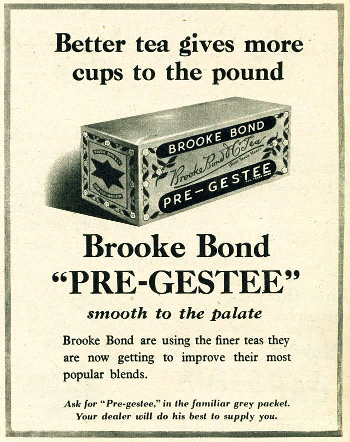 Brooke Bond Pre-Gestee