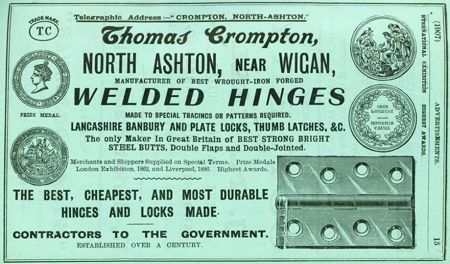 Thomas Crompton Hinges and Locks