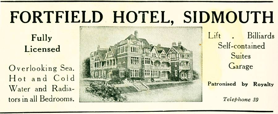 Fortfield Hotel, Sidmouth