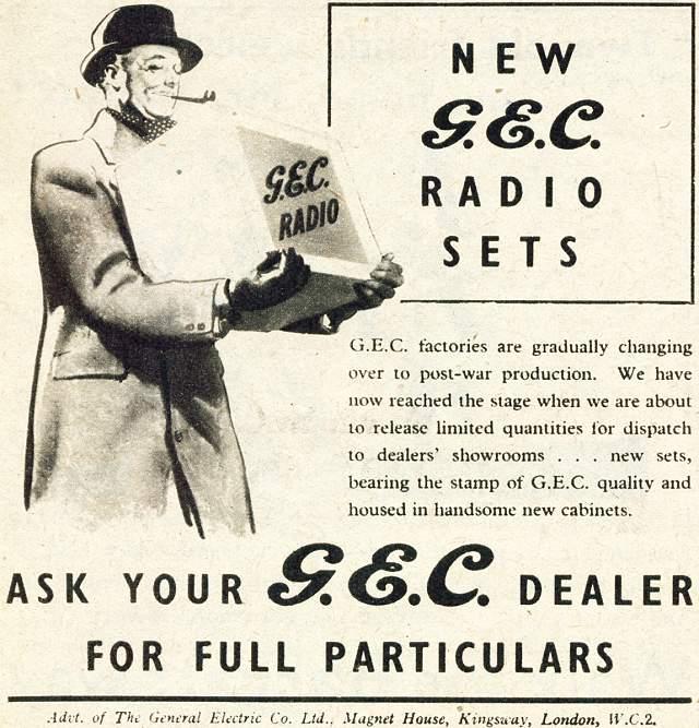 G.E.C. Radio Sets