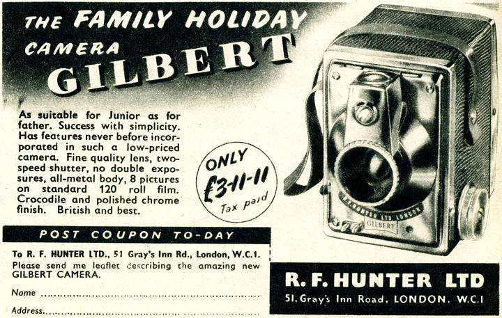 R. F. Hunter - Gilbert Camera