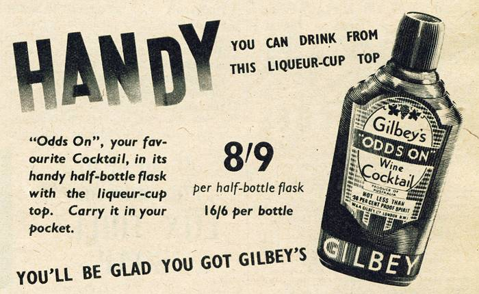 Gilbey's 'Odds On' Wine Cocktail