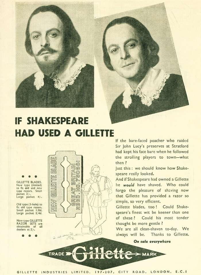 If Shakespeare had used a Gillette