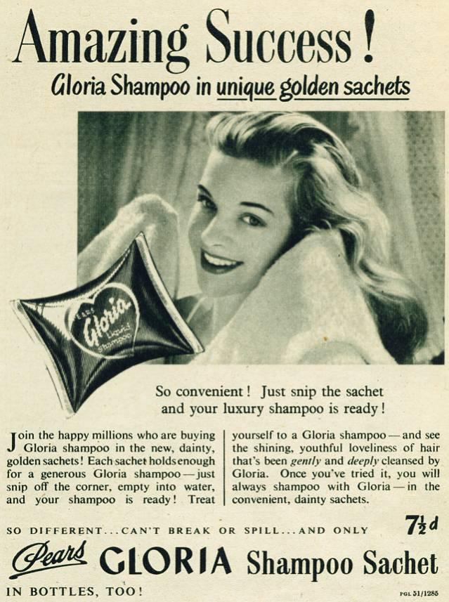 Pears Gloria Shampoo Sachet
