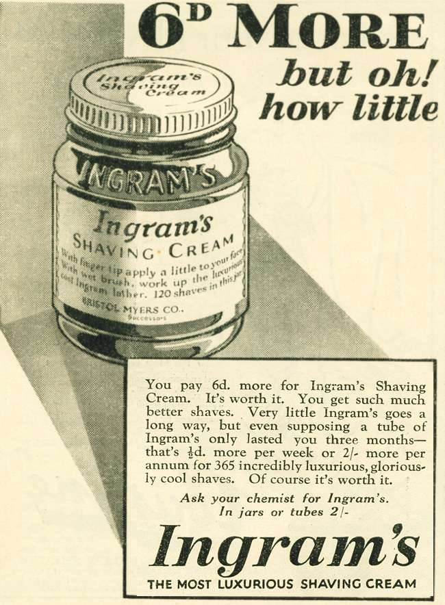 Advert Museum Ingram S Shaving Cream