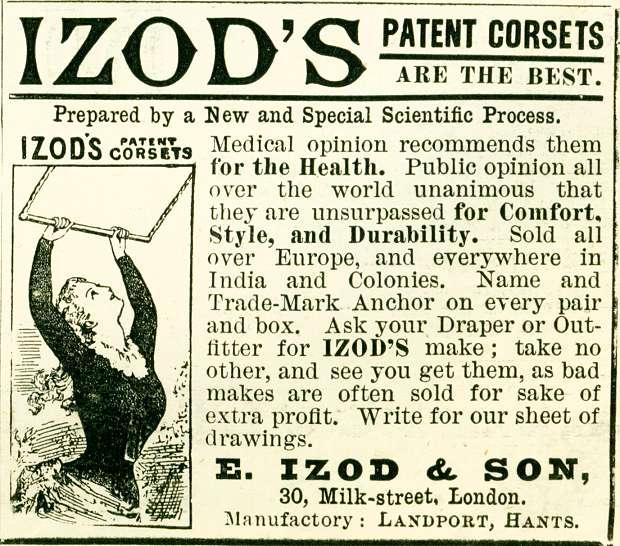 Izod's Patent Corsets