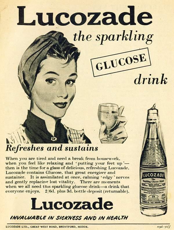 Lucozade the Sparkling Glucose Drink