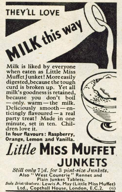 Little Miss Muffet Junket