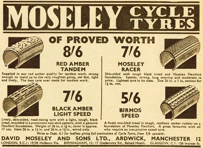 Moseley Cycle Tyres