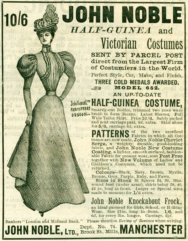 John Noble Half-Guinea and Victorian Costumes