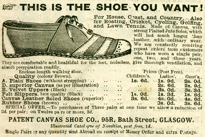 Patent Canvas Shoe Co.