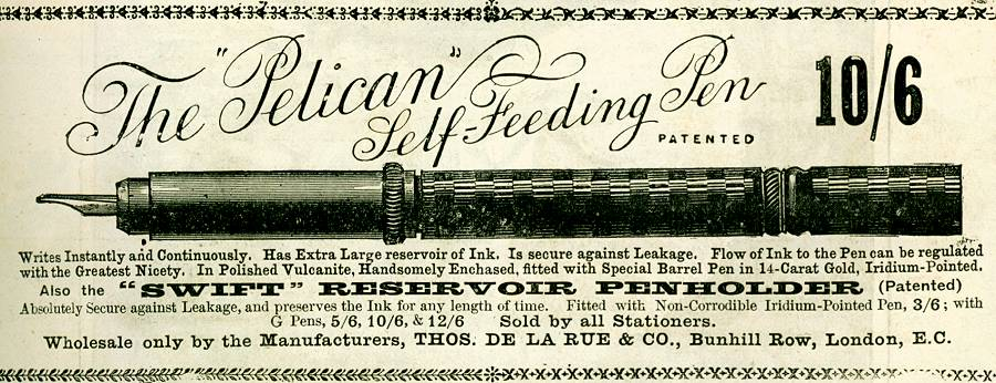 The 'Pelican' Self-Feeding Pen