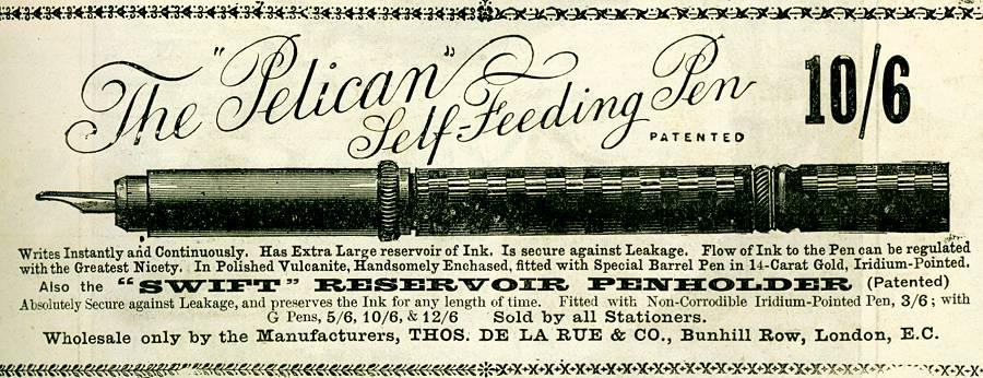 The 'Pelican' Self-Feeding Pen