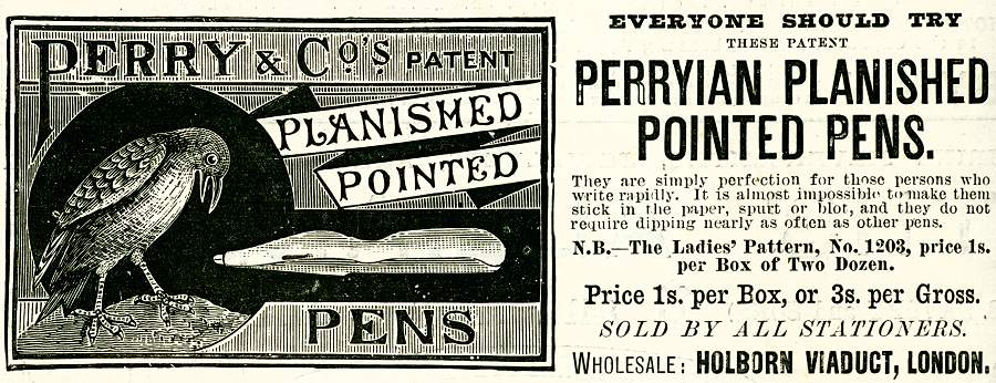Perry & Co's Patent Planished Pointed Pens