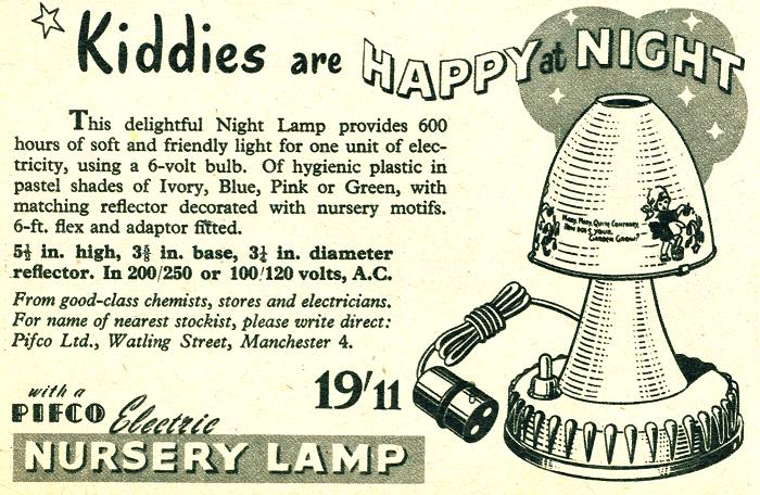Pifco Electric Nursery Lamp
