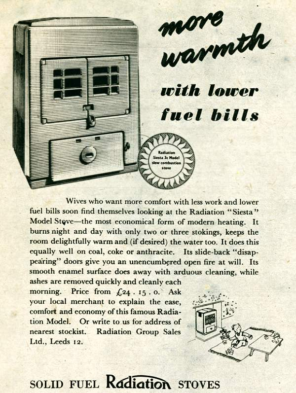 Radiation Stoves