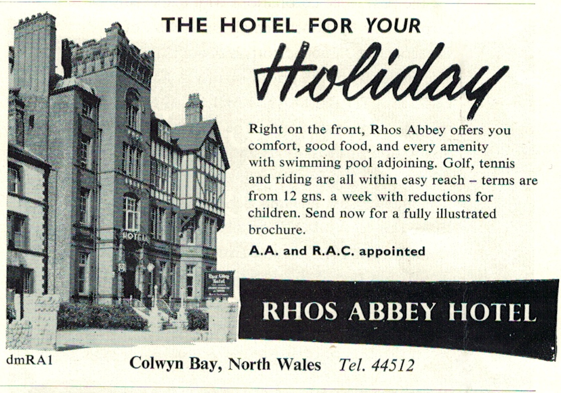 Rhos Abbey Hotel, Colwyn Bay, North Wales