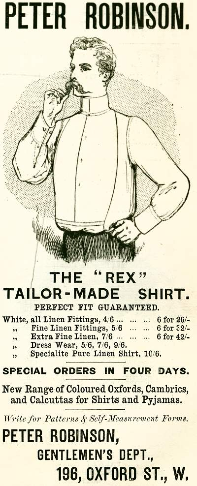 Peter Robinson. The 'Rex' Tailor-Made Shirt