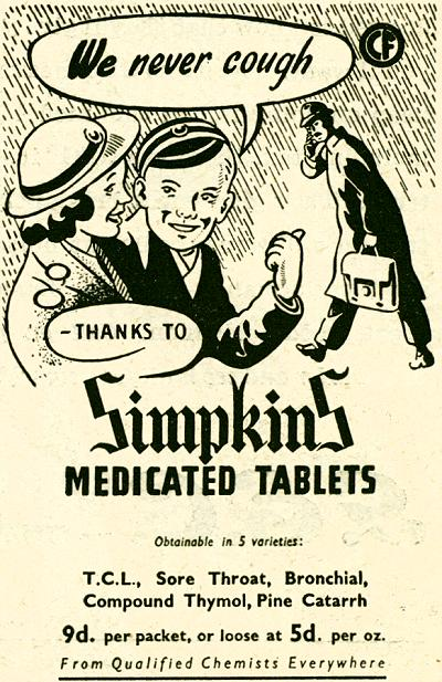 Simpkins Medicated Tablets