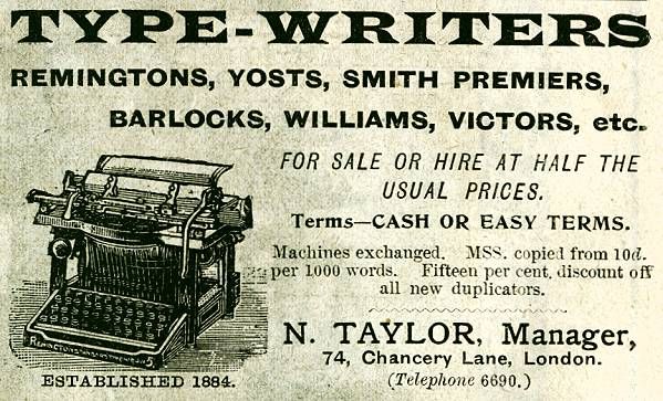 N. Taylor Type-Writers