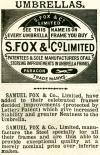 Umbrellas. S. Fox & Co. Limited