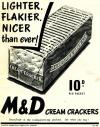 M & D Cream Crackers