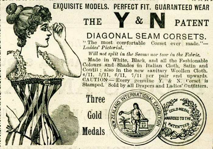 Y & N Patent Diagonal Seam Corsets