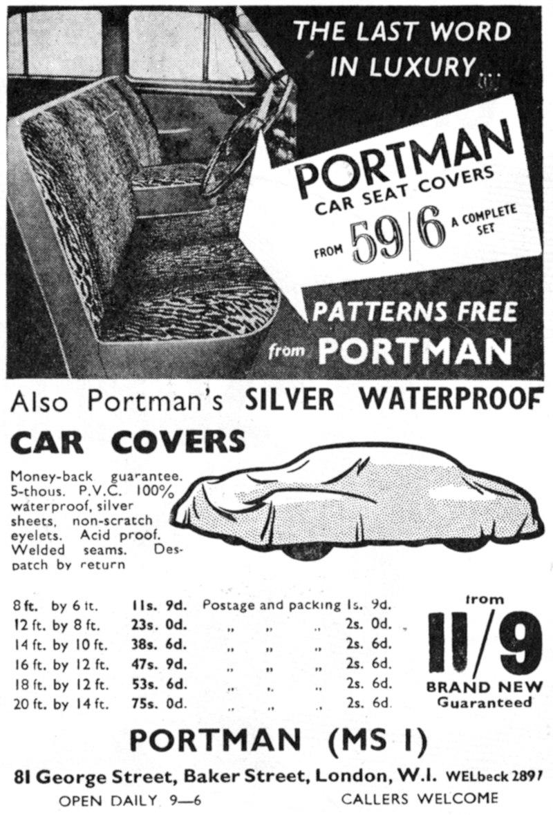 Portman Car Seat Covers