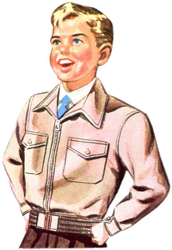 Cotton Gaberdine Zip Jacket